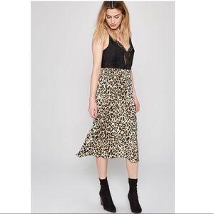 Amuse Society Leopard Skirt